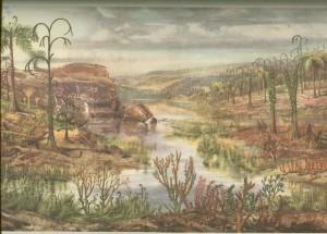 Ландшафт Донбасса 400 млн. лет назад