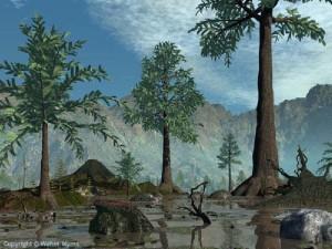 Ландшафт Донбасса 360 млн. лет назад