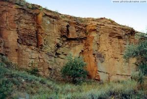 Песчаники каменноугольной эпохи рядом с Константиновкой