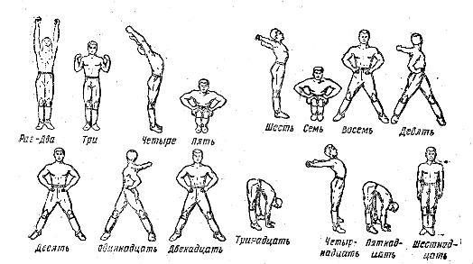 Армейские комплексы утренних упражнений